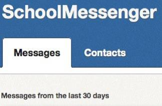 School Messenger message folder screenshot.