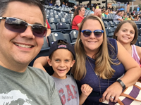 Mark Swavel and family at Mud Hens game.
