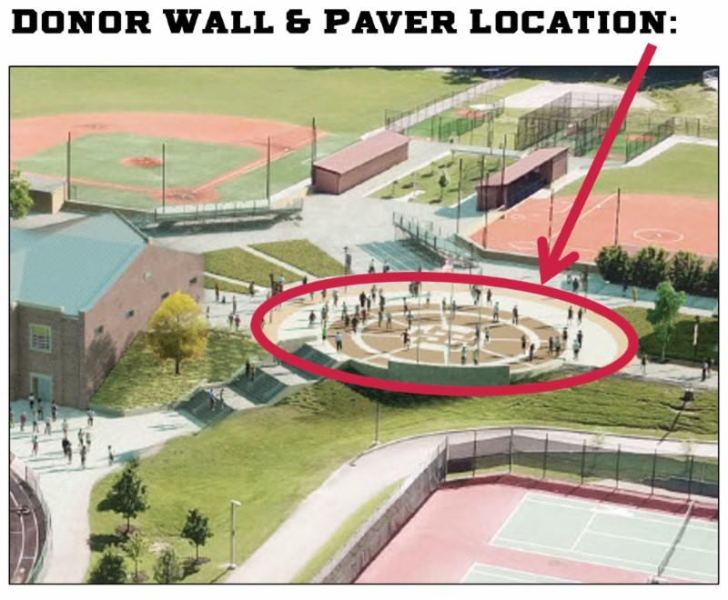 Pavers in circular plaza