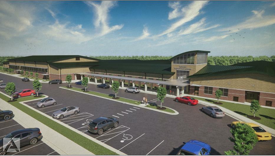 Architectural rendering of new Fremont Elementary