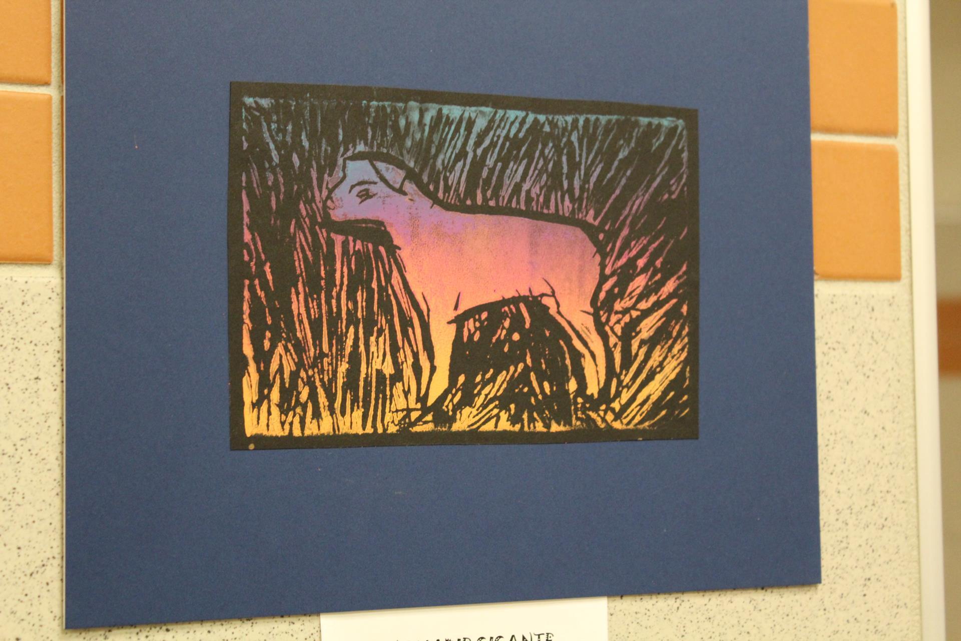 Art print of lamb
