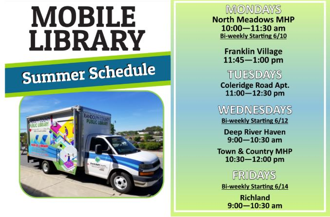 dates for the RPL mobile library