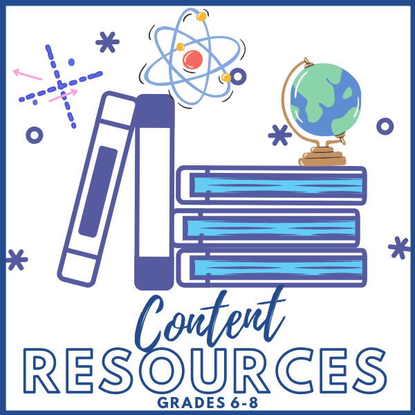 Click to view Content Resources 6-8