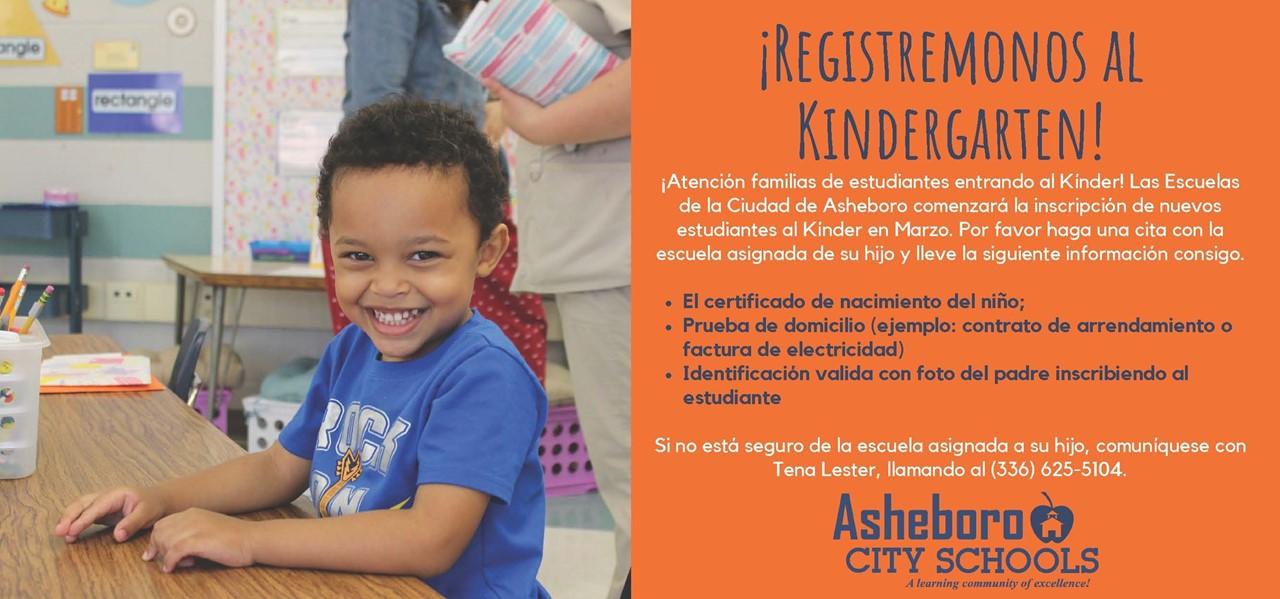Register for Kindergarten in Spanish