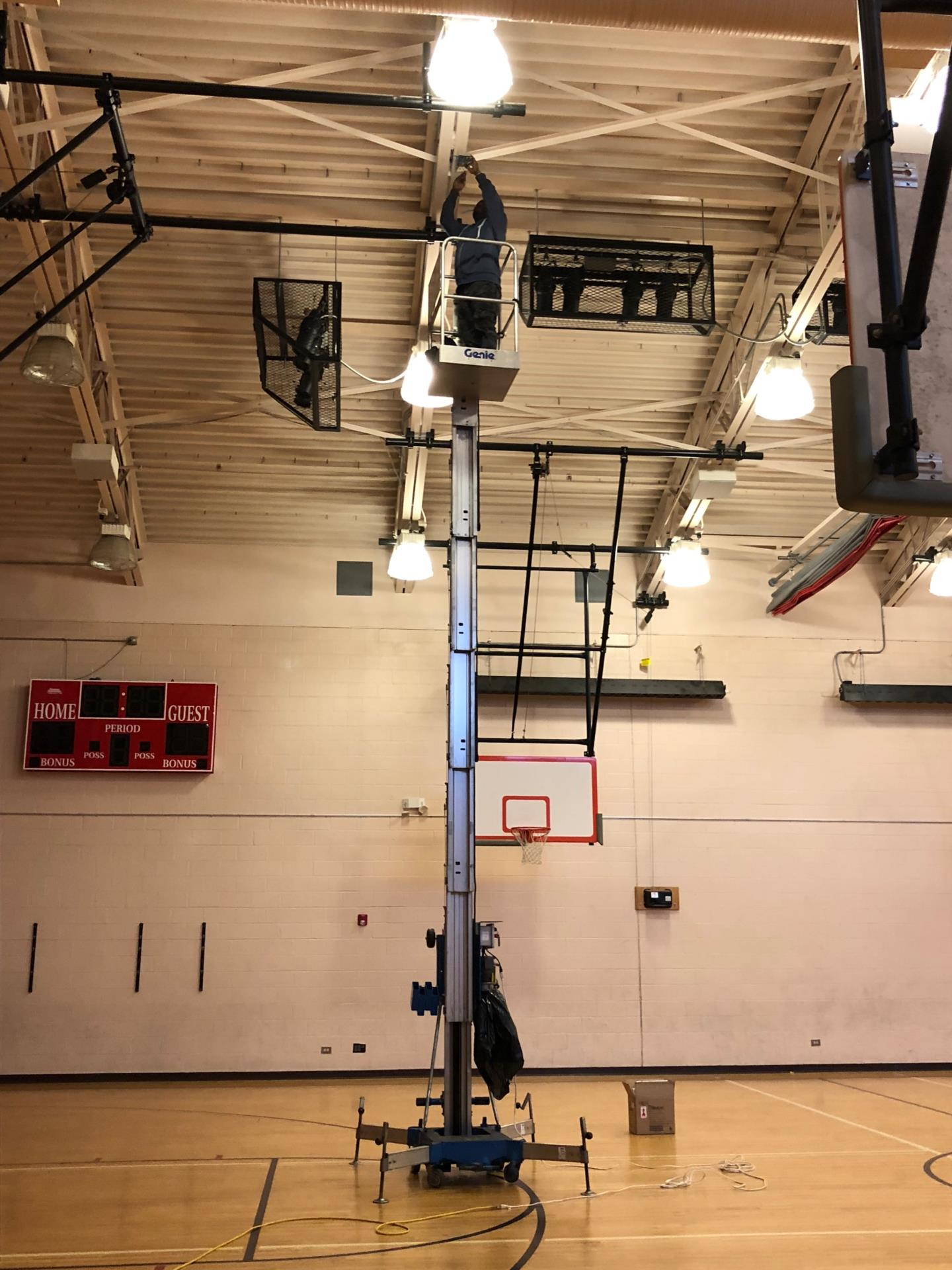 Installing access points in a gym