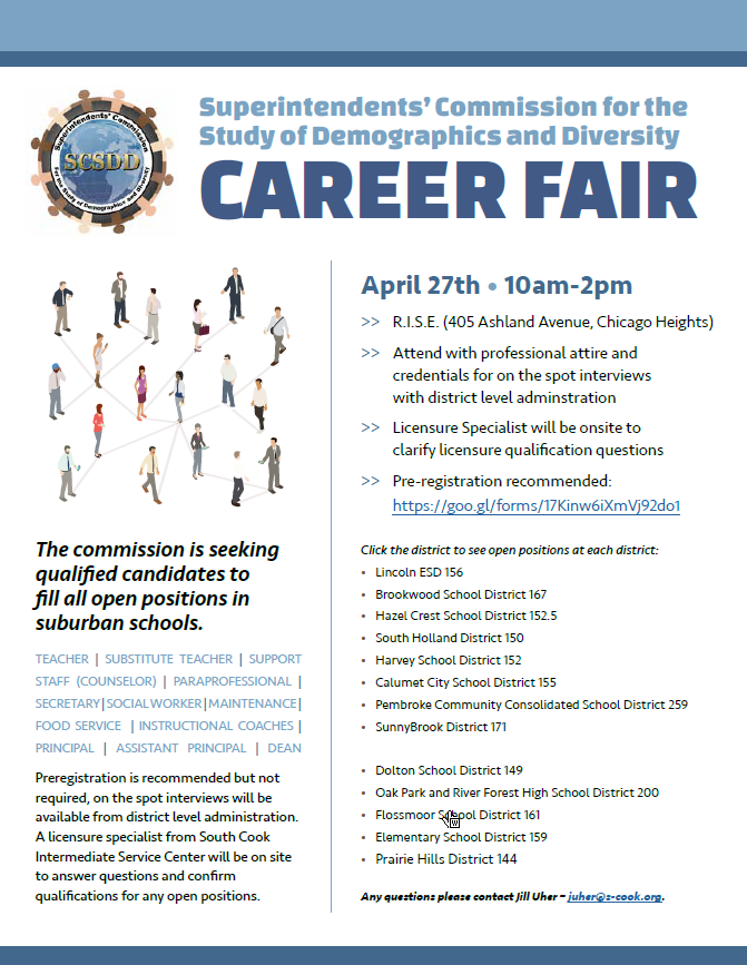 SCSDD Career Fair info