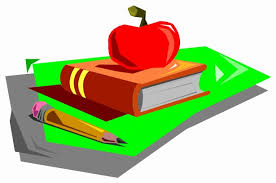 Textbook and an apple