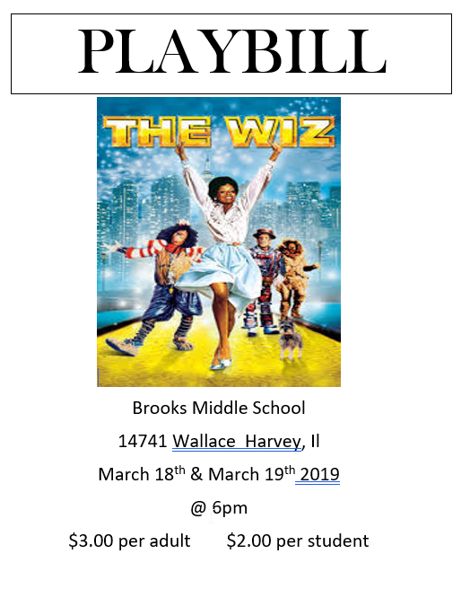 The Wiz playbill
