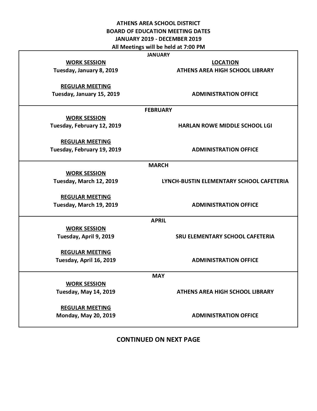 Jan/Jun Board Meeting Dates