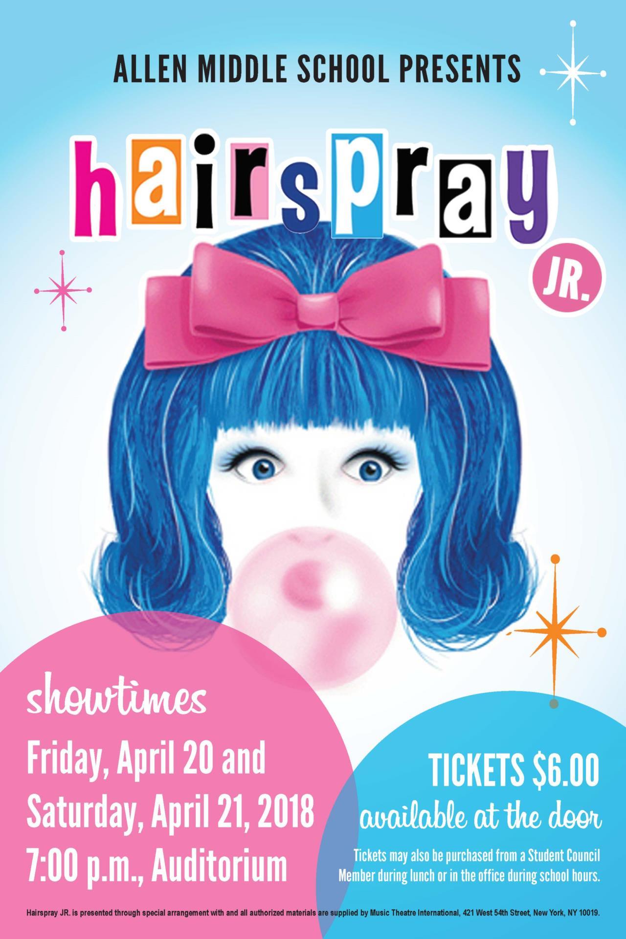 Hairspray Jr Poster