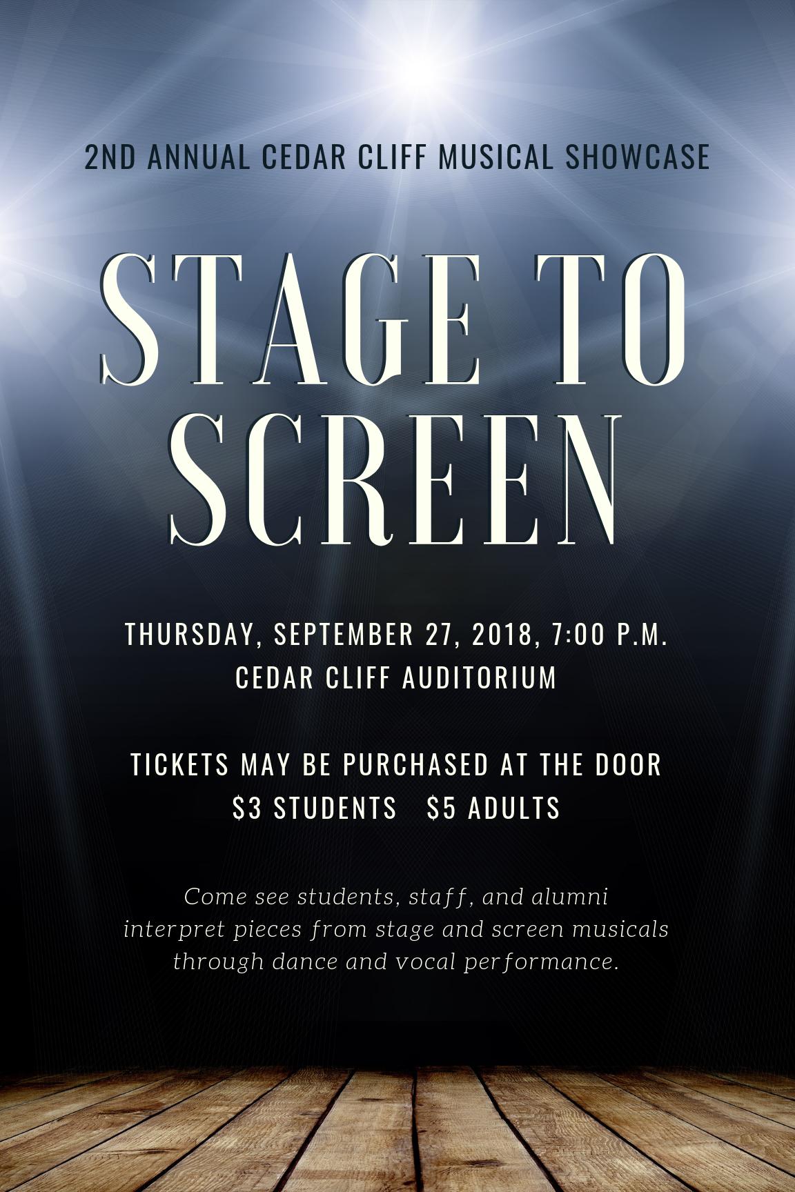 Musical Showcase Sept 27