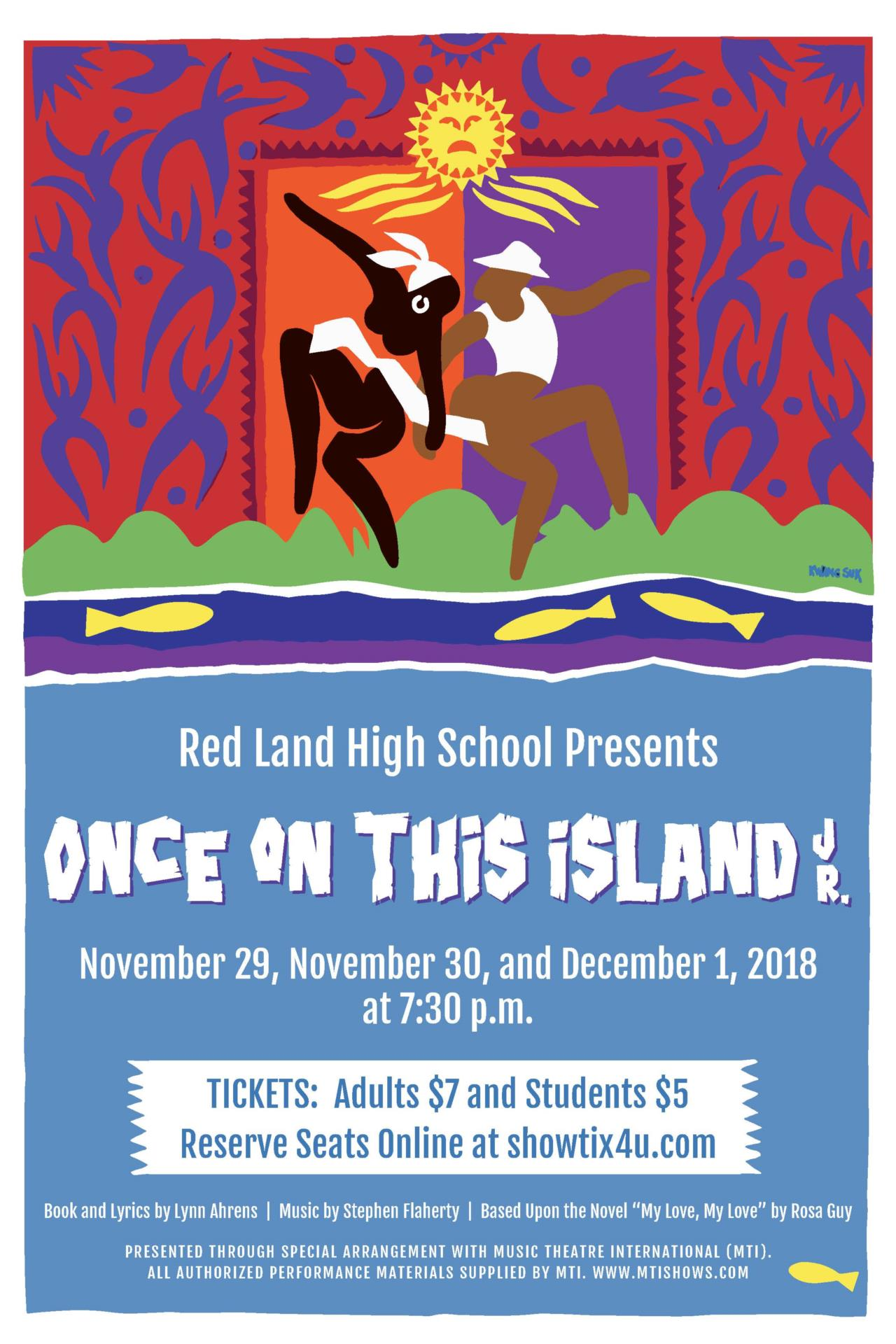 RL Once on this Island Play Poster