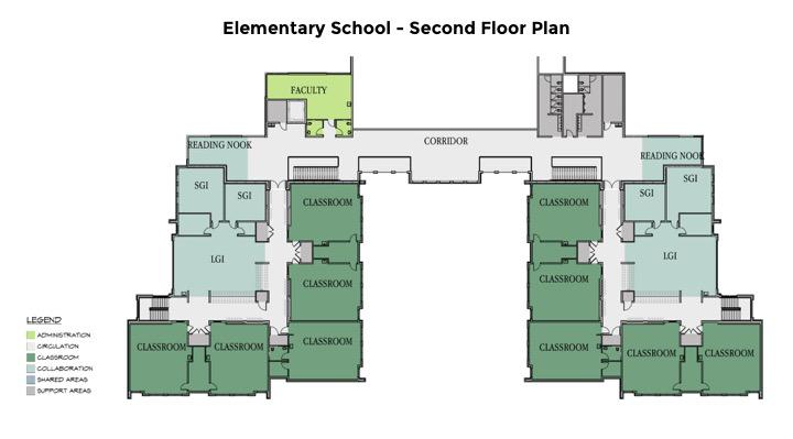 Elementary Second Floor Plan