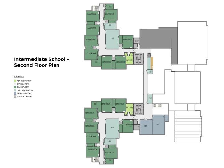 Intermediate School 2nd Floor Plan