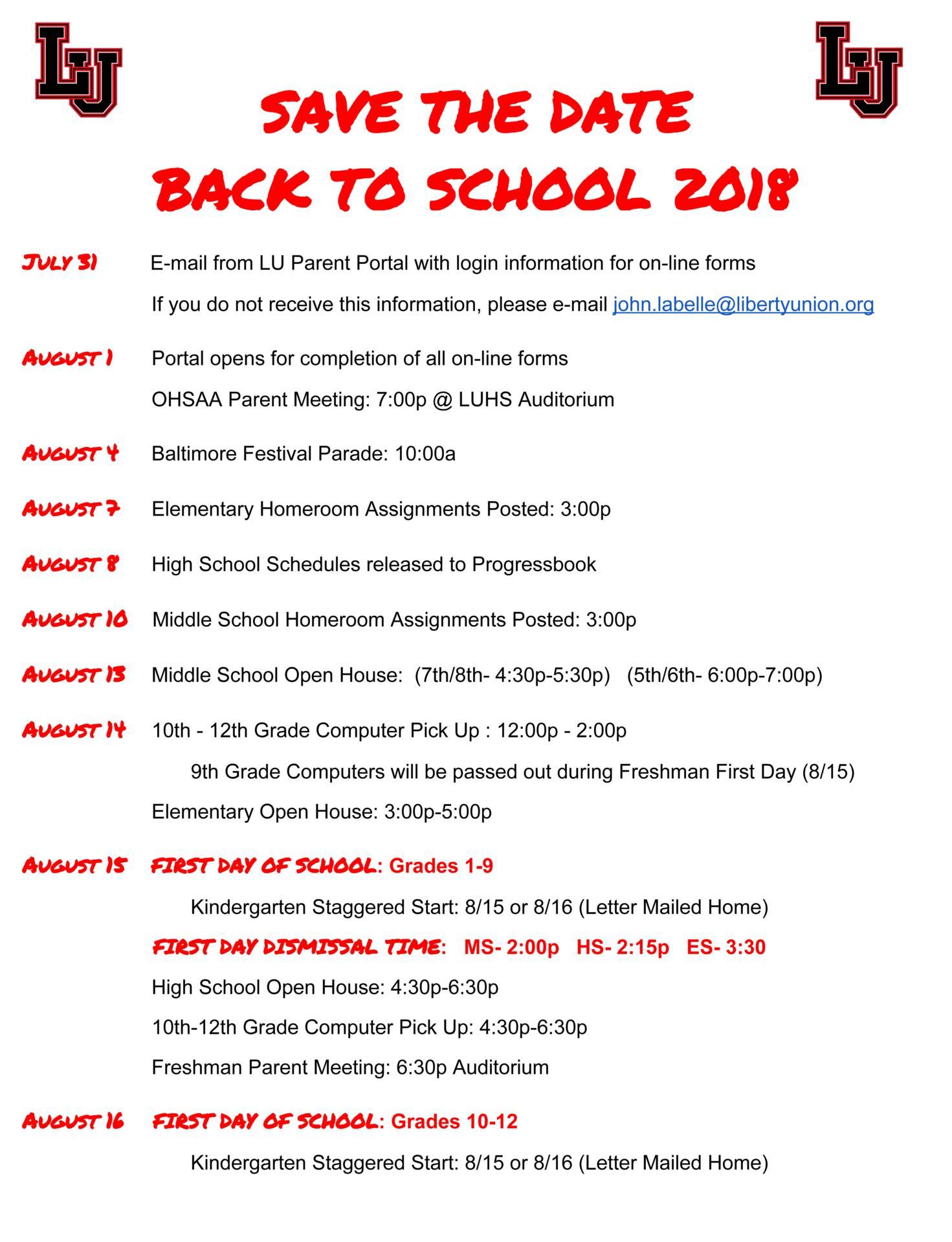 Liberty Union-Thurston Local Schools News Article