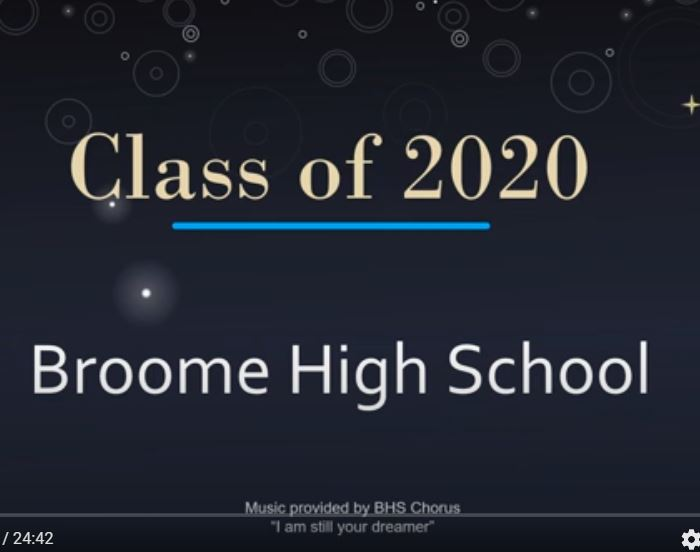 Graduation video; Musical selection performed by BHS Varsity Chorus