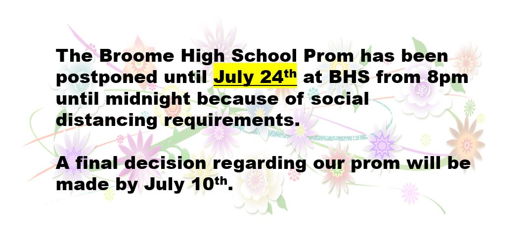 Prom Rescheduled for July 24