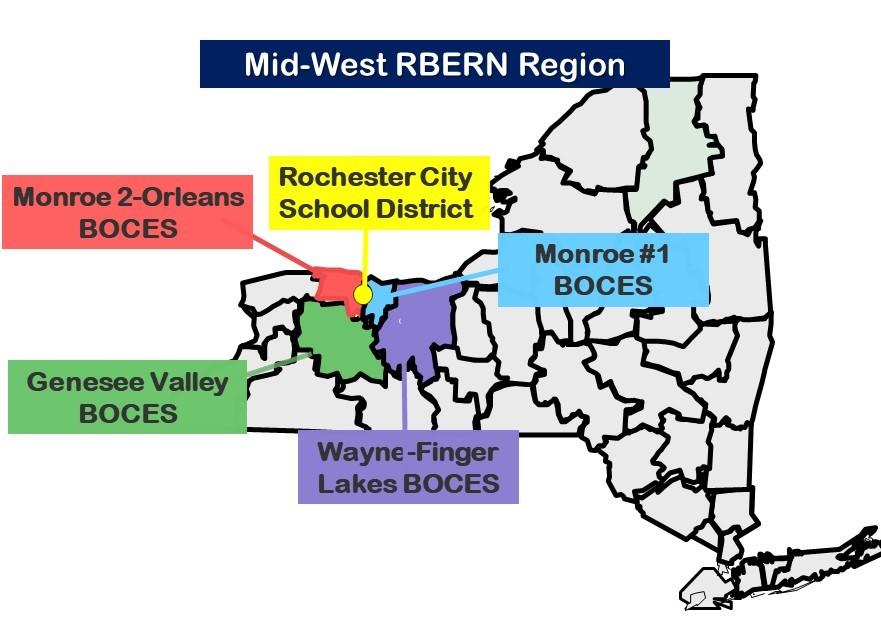 Mid-West RBERN Region Map