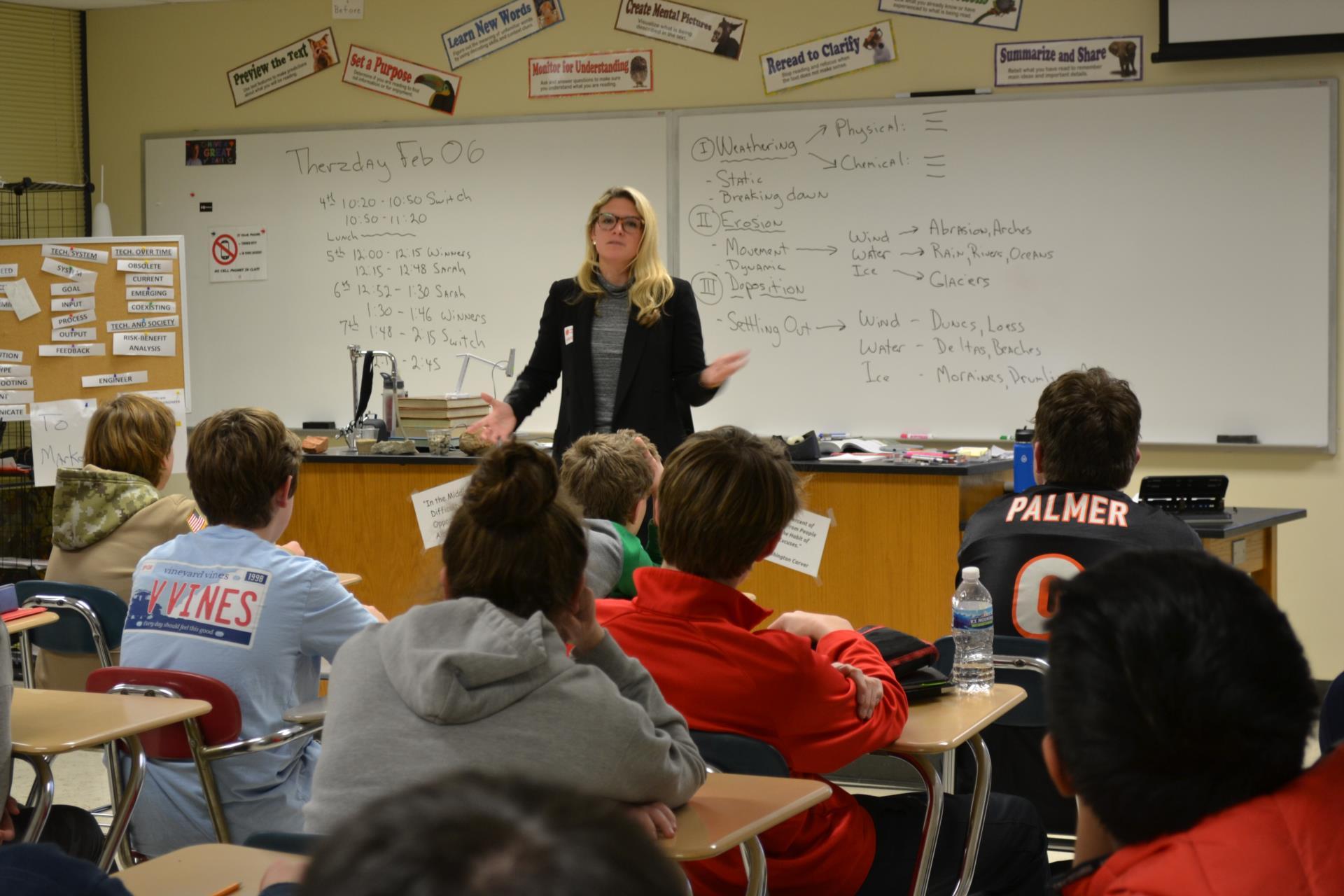 Sarah Sanders w class