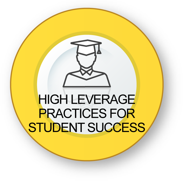 High Leverage Practices for Student Success - Student with graduation cap