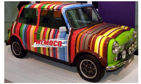 multi-colored car