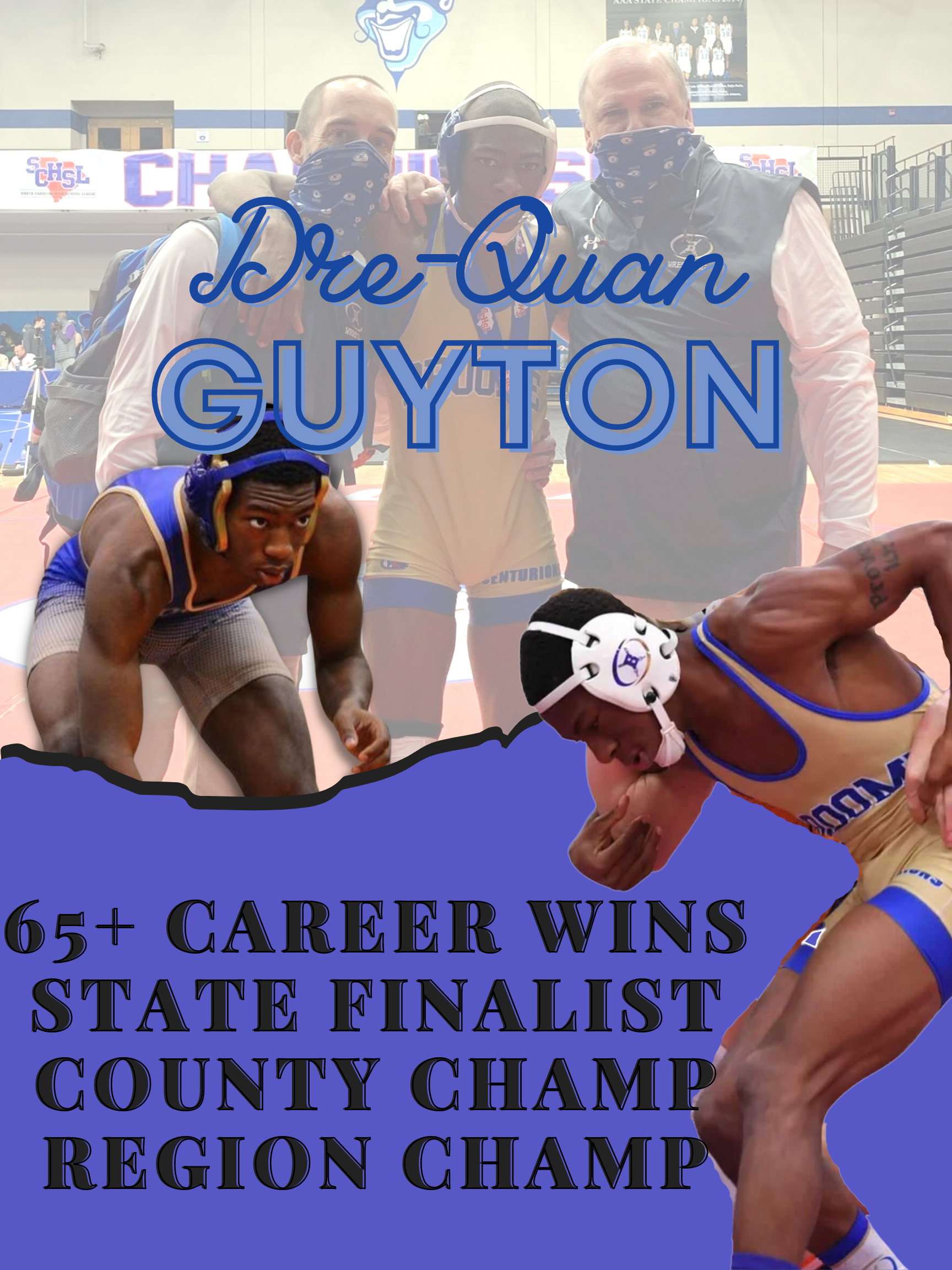 Congratulations to Broome High Schools Senior Drequan Guyton for placing third in the state in the 132 wrestling weight class! We are so proud of you!  Great job Dre!