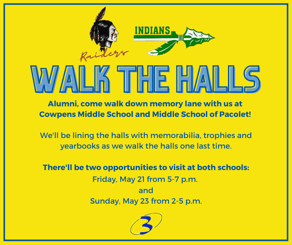 walk the halls information listed to the right