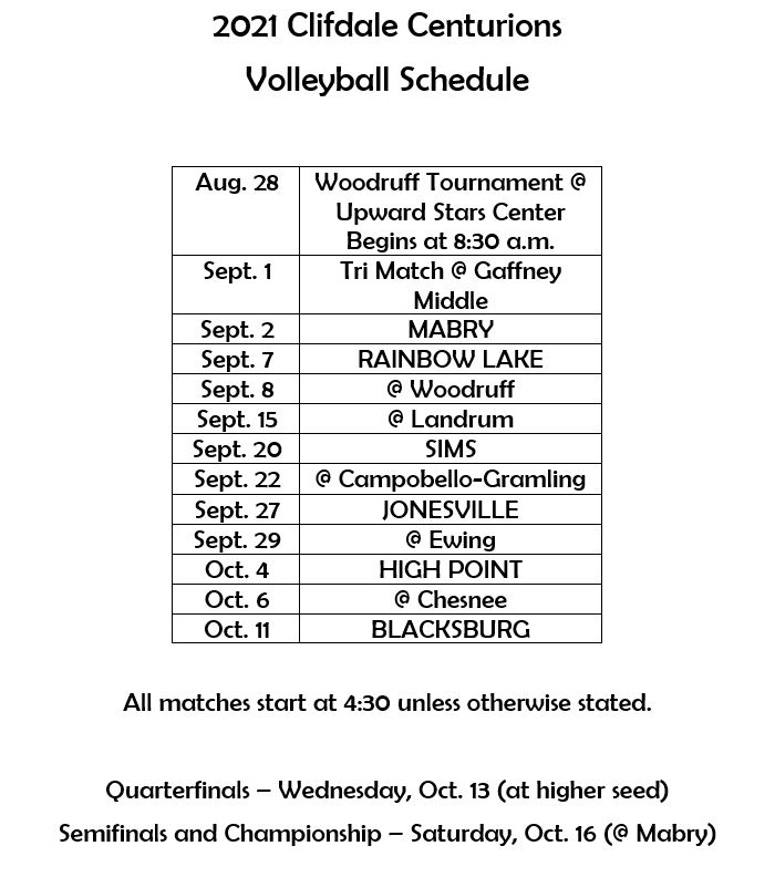 for an ada friendly version of this schedule, please email amyles@spartanburg3.org