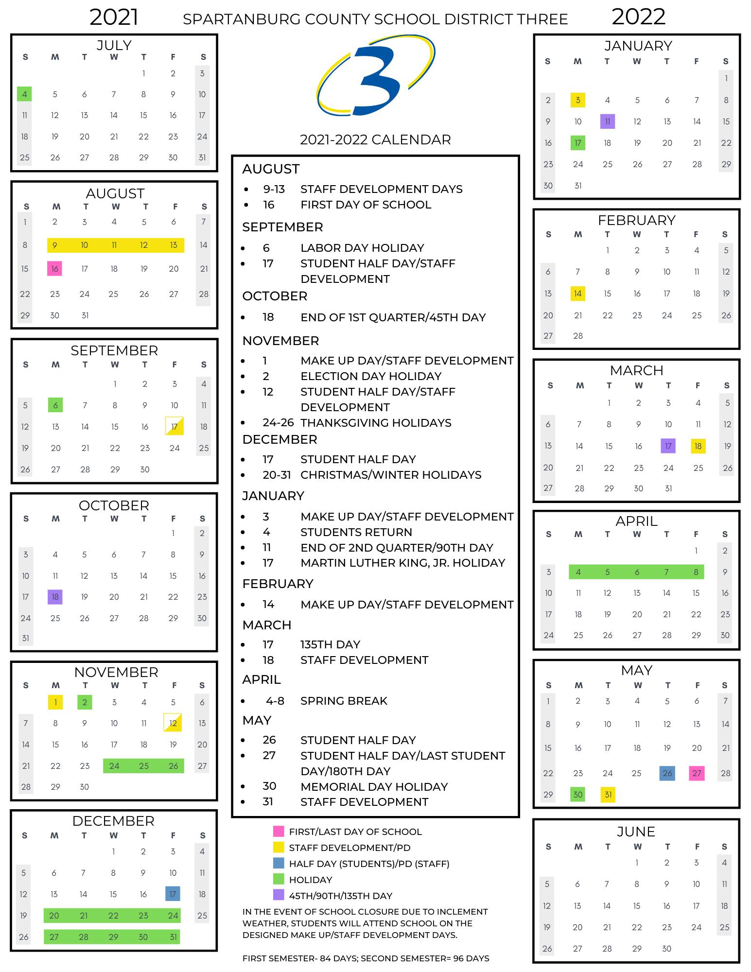 2021 2022 calendar