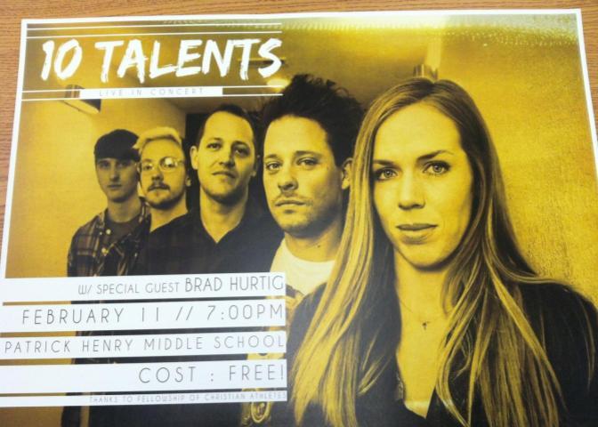 10 Talents Concert Flyer