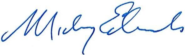 Mickey Edwards signature
