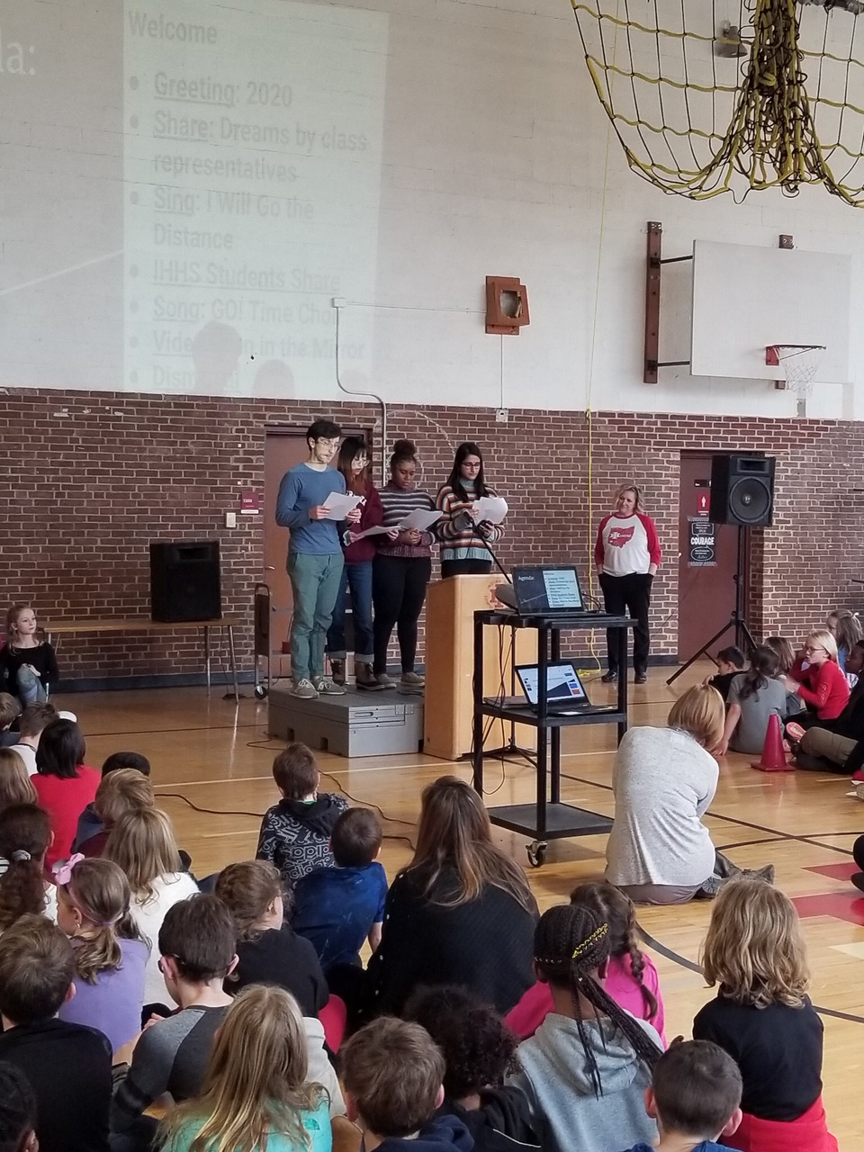 IHHS student at Dream Big Assembly