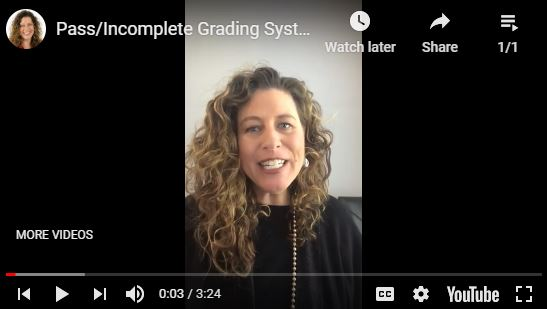 Distance Learning Grading Video