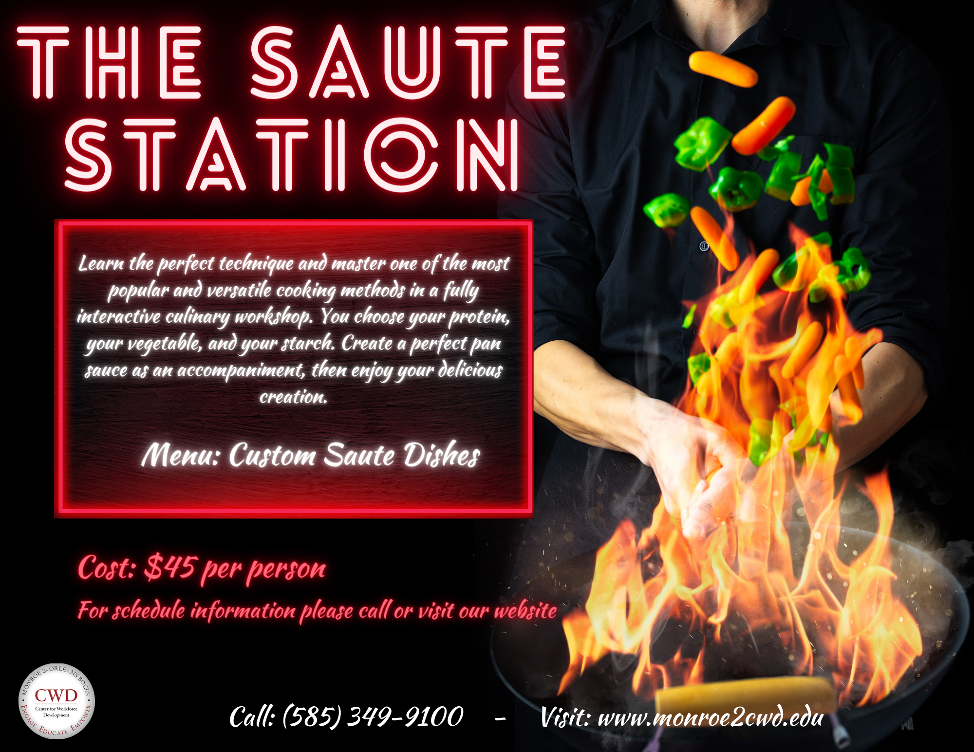 Saute Station poster