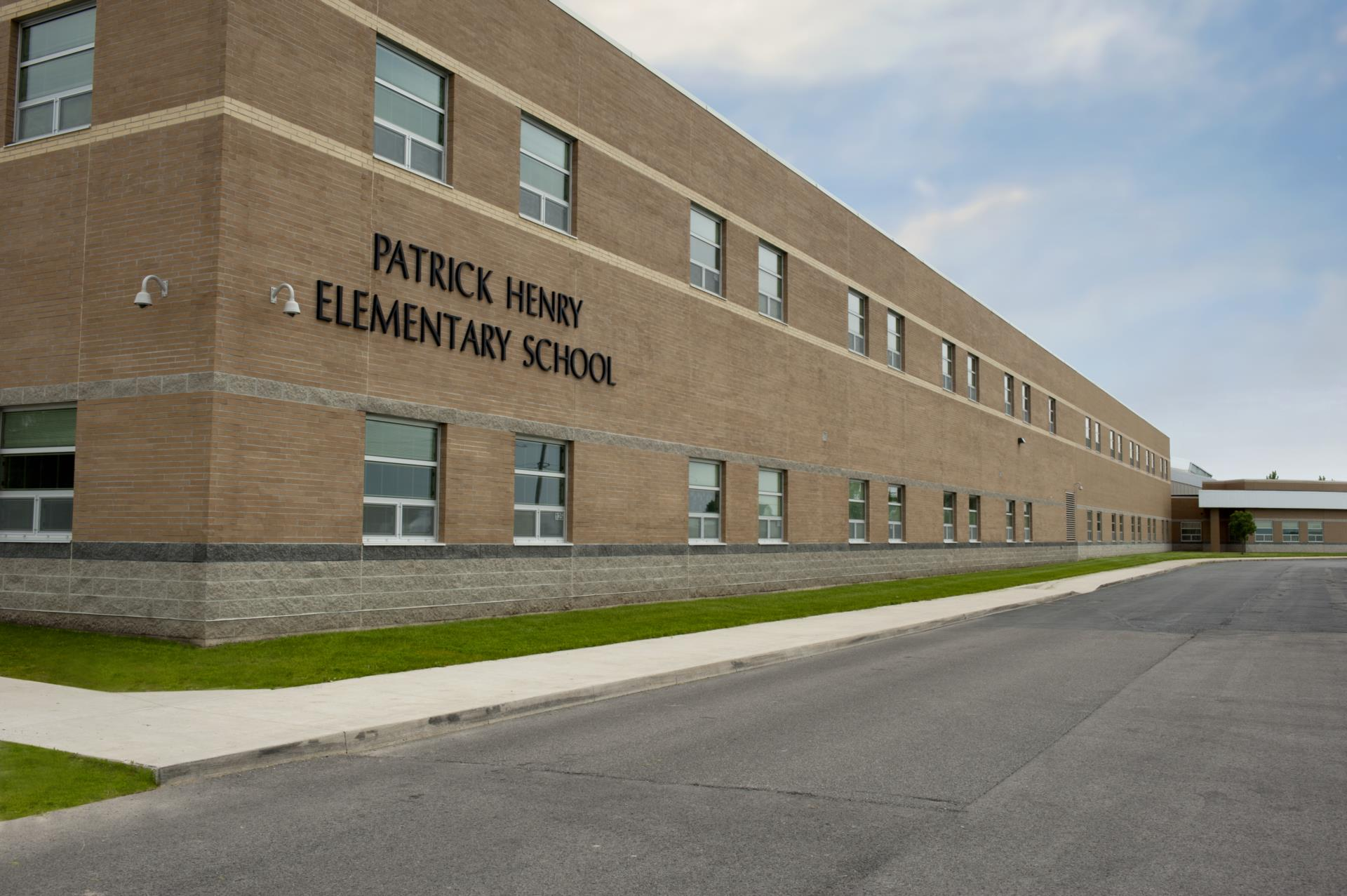Patrick Henry Elementary Building Entrance Image