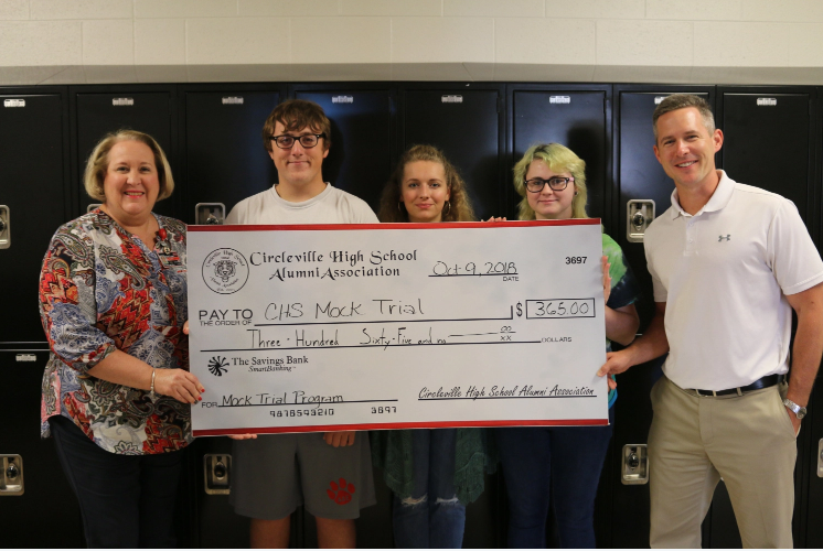 CHS Mock Trial donation from Alumni
