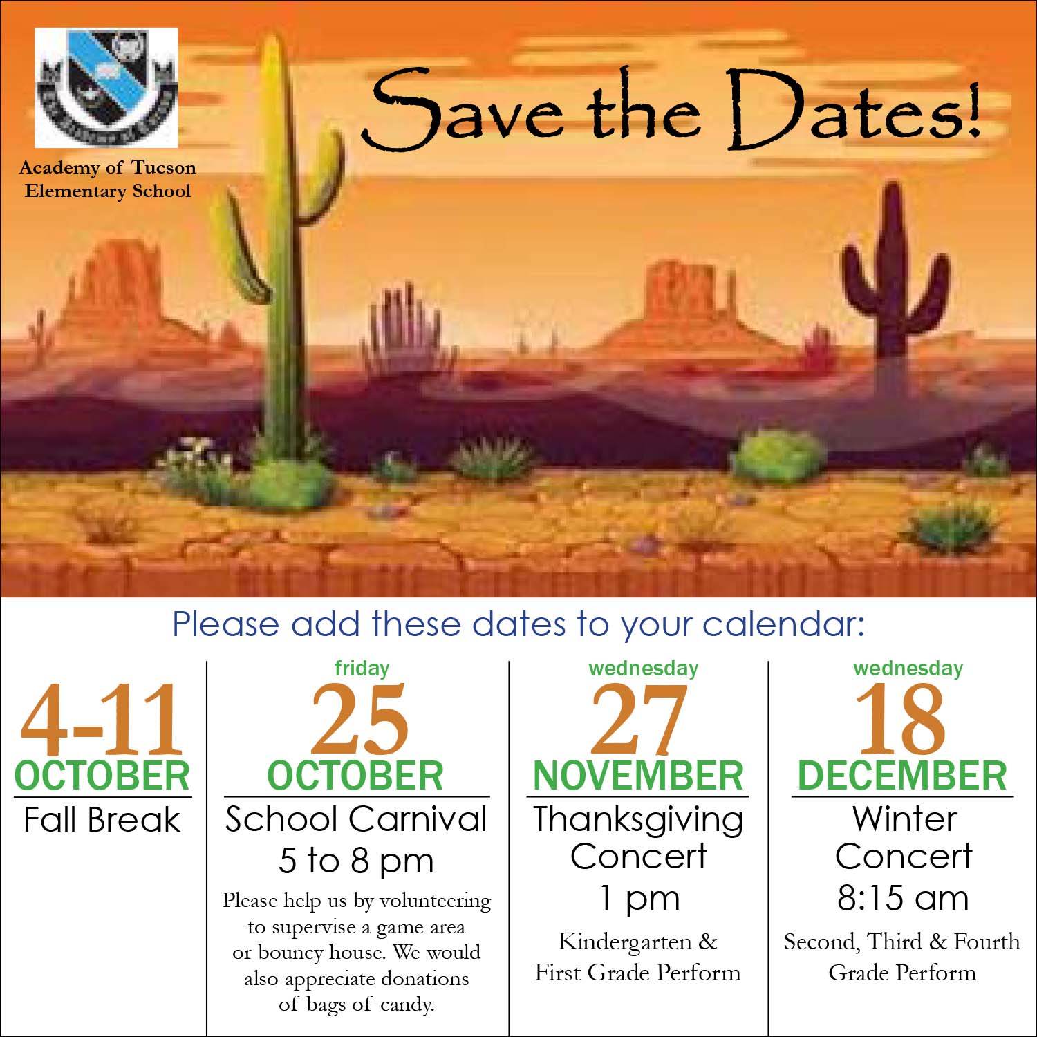 AOT Elementary School Save the Dates Flyer. Link to RTF format is located above this image.