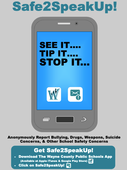 image of safe2speakup app feature