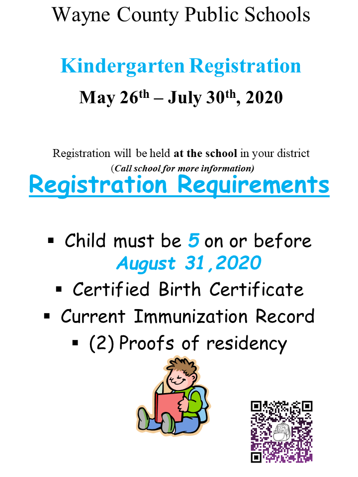 Kindergarten Registration English Flyer