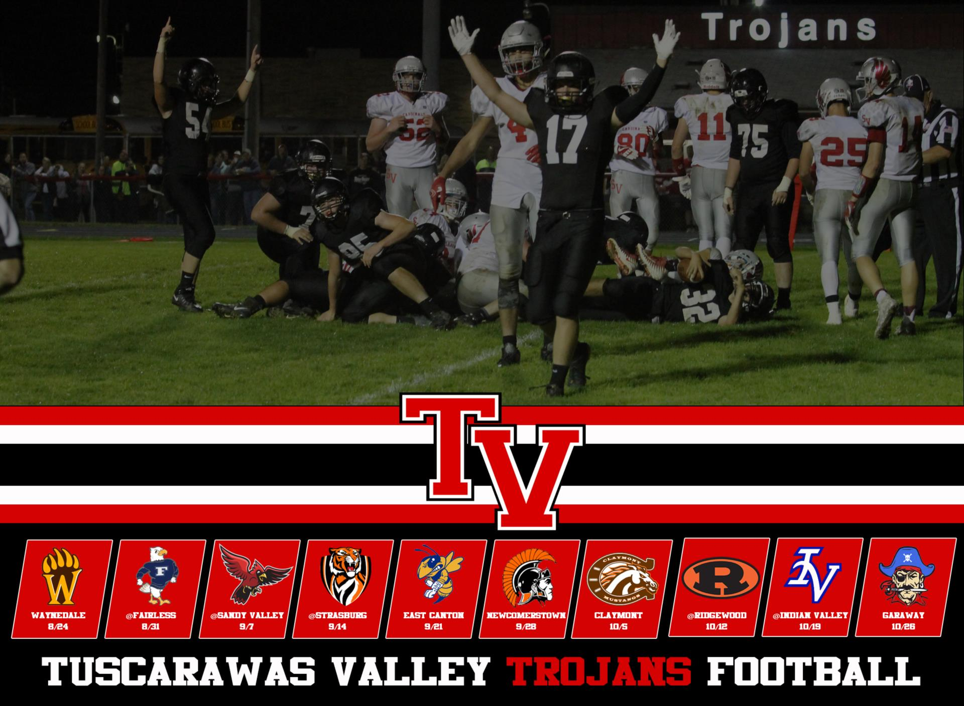 2018 Tusky Valley Football Schedule