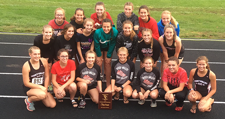 Girls' Cross Country Poses with Tuscarawas County Title