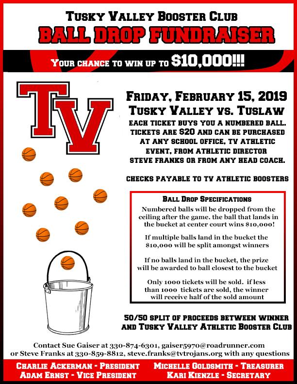 Ball Drop Fundraiser Flyer