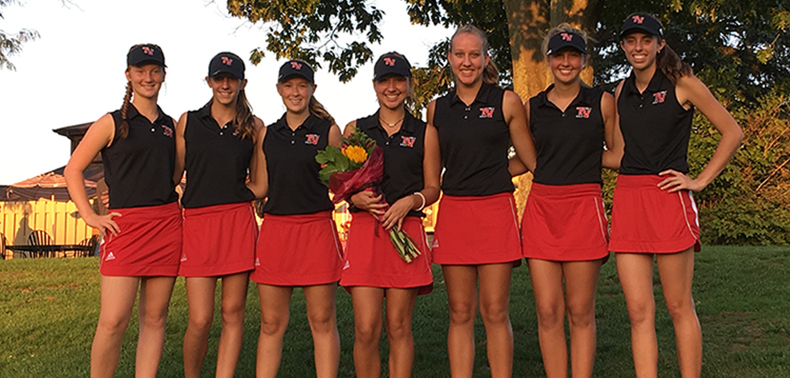 The Girls' Golf Team Set a New School Record on September 19th