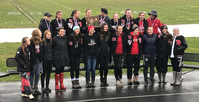 Girls Cross Country with Regional Trophy