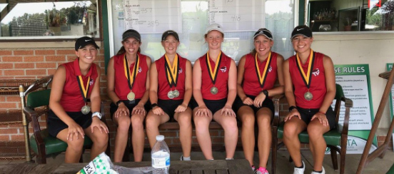The Girls' Golf Team After Winning the Lady Dawg Invitational