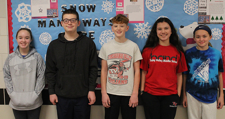 TVMS Students of the Month