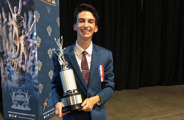Drake Spine Placed 6th Nationally in Humor