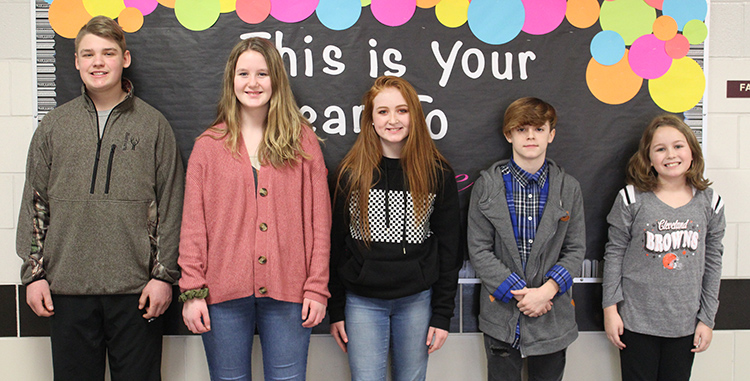 TVMS January Students of the Month