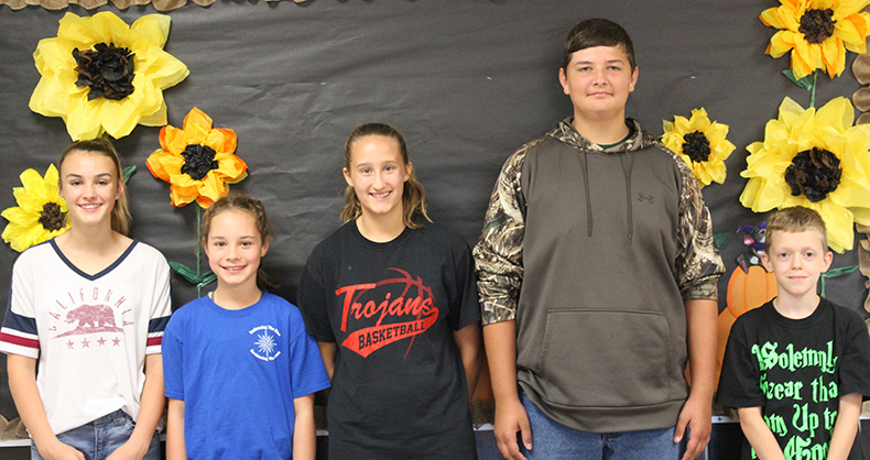 TVMS October Students of the Month