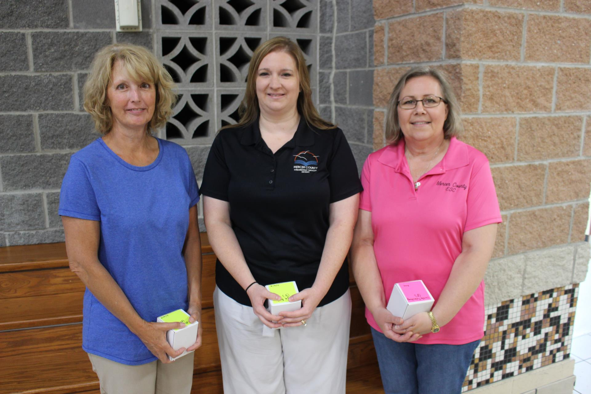Five Years of Service: Kristy Vogel, Angie Fiely and Christa Fullenkamp  Not pictured: Lindsey Sell